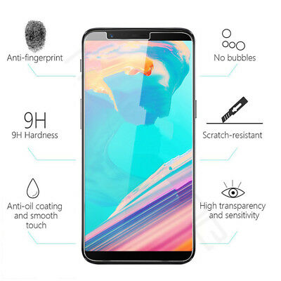 AU2.99 • Buy 9H Premium Clear Tempered Glass Screen Protector Guard Film For OnePlus 5T 6.01