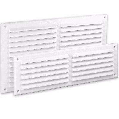 WHITE LOUVRE AIR VENTS 9  X 3  9  X 6  Wall Ventilation Grille Ducting Cover • 2.87£