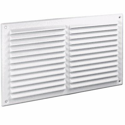 9  X 6  WHITE LOUVRE AIR VENT Double Brick Wall Ventilation Grille Ducting Cover • 3.42£