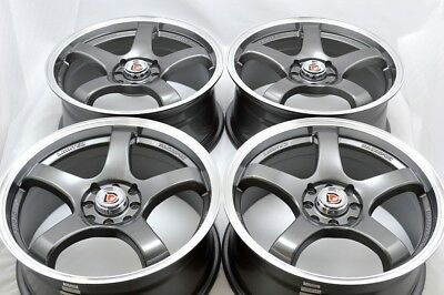 $539 • Buy 4 New DDR Fuzion 17x7.5 4x100/114.3 38mm Gunmetal/Machined Lip Wheels Rims