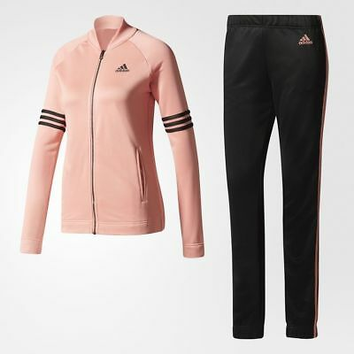 $109.98 • Buy New* Adidas Women's Bs2615 Cozy Track Suit Tactile Rose Black Jacket & Pant Set