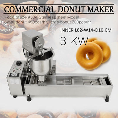 £740.71 • Buy ,220V 3 Sets Mold Commercial Automatic Donut Maker Making Machine,Wide Oil Tank