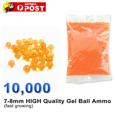 AU4.95 • Buy 7-8mm Gel Balls Hardened Ammo Gel Blaster Toy 10,000 Bullet Orange 7mm