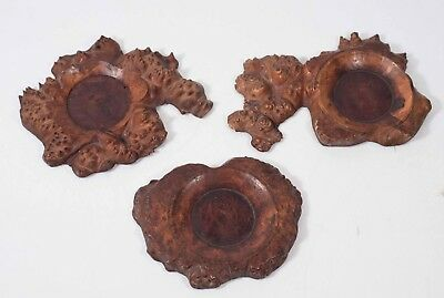 $ CDN236.51 • Buy Antique Burl Wood Ink Well Holders, Set Of 3, Early 1800's Possibly 1700's?
