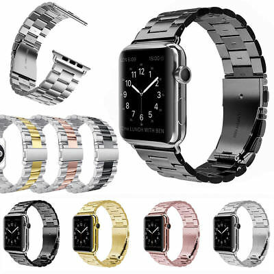 AU15.98 • Buy 38/42mm Stainless WatchBand Metal Band Bracelet For Apple Watch IWatch 5 4 3 2 1