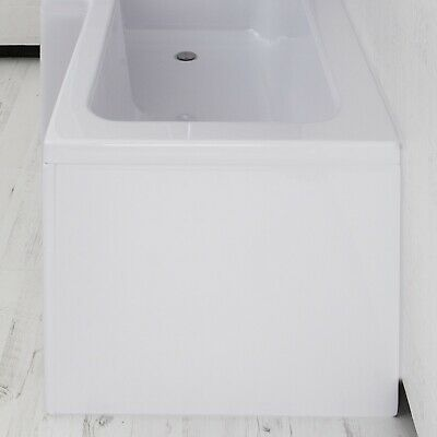 £41.97 • Buy Bathroom End Panel For L Shaped Shower Bath Acrylic White Gloss Easy Clean 710mm