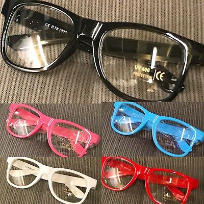 Children Girls Boys Classic  Fashion Clear Lens Glasses UV400 Protected  • 4.95£