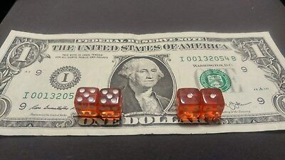 £181.86 • Buy SUPER RARE CLEAR RED PEEWEE DICE 10mm Loaded Dice For Craps