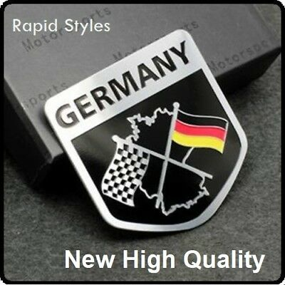 £5.95 • Buy GERMANY Chequered Flag For Vw Audi Bmw Car Badge Emblem Sticker Decal Car (94)