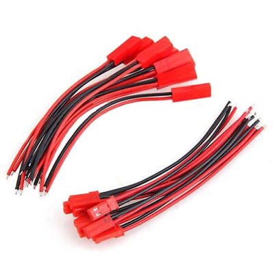 AU2.94 • Buy 10Pair 100mm JST Connector Plug Cable Line Male + Female For RC BEC Lipo Battery