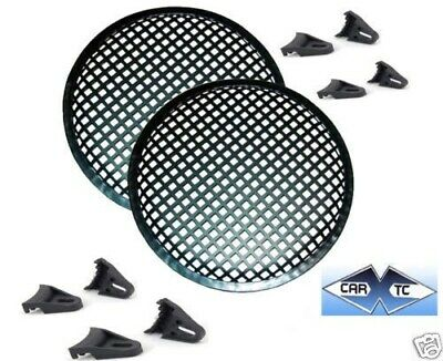 2 12 Inch Speaker Grills Sub Woofer Grille Covers Guard Metal Waffle Style • 11.18£