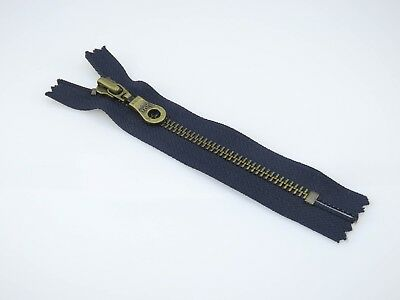 YKK 5  Navy Blue Size No5 Closed End Metal Zip - Choice Of 1 Or 3 Zips • 3.99£