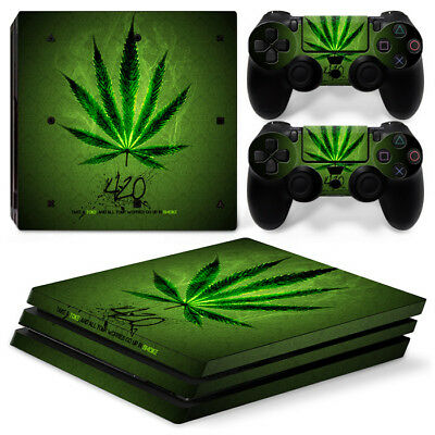 AU11.60 • Buy Cannabis Weed Marijuana Skin Sticker For PS4 Pro Console +2 Controller Decal