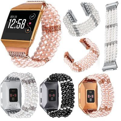 AU23.78 • Buy For Fitbit Ionic Watch Stylish Pearls Beaded Band Wristwatch Strap Bracelet Link