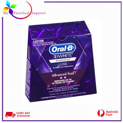 AU16.76 • Buy Oral B 3D White Luxe Advance Seal Teeth Whitening Strips