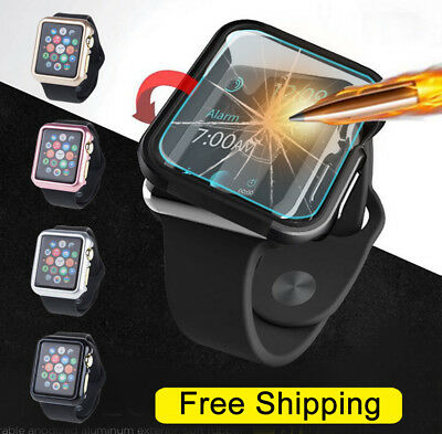 $ CDN4.16 • Buy Apple Watch Series 3/2/1 38/42mm Snap On Bumper TPU Case Cover+Screen Protector