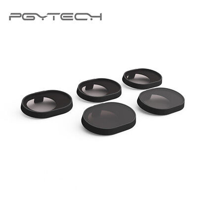 AU99 • Buy GENUINE PGY Tech DJI Spark Filters 5-pack UV/ND4/ND8/ND16/PL Free Delivery
