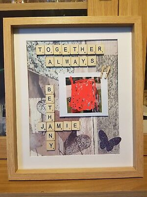 Personalised Scrabble Picture • 15£