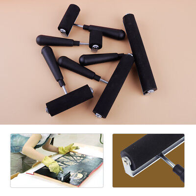 £11.79 • Buy 5 Sizes Heavy Duty Rubber Roller Brayer Stamping Printing Inks Art Craft Tool