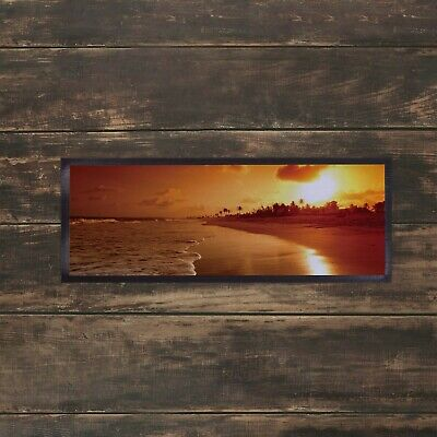 £10.99 • Buy Beach Sunset Bar Runner Ideal For Any Occasion Party Pub Club Salon Media Mat