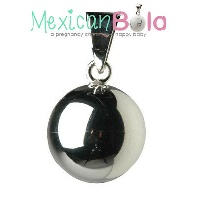 Silver Mexican Bola - Pregnancy Chime • 14£