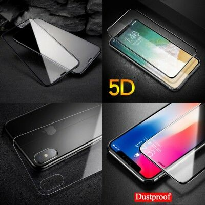 AU3.68 • Buy For Apple IPhone X 5D Front+Back Tempered Glass Screen Protector Cover