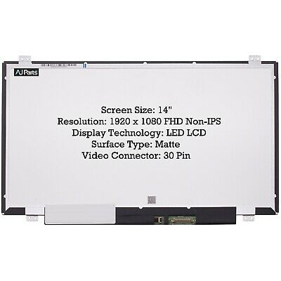 £221.99 • Buy Compatible HP COMPAQ 739582 001 14  LED FHD Laptop Screen Panel