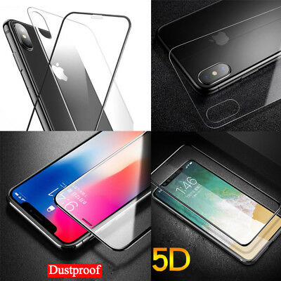 AU3 • Buy For IPhone X Front & Back Screen Protector, 5D Tempered Glass Screen Protector