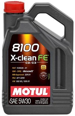 $ CDN85.25 • Buy Motul 8100 X-clean Fe 5w-30 100% Synthetic Engine Oil 5l