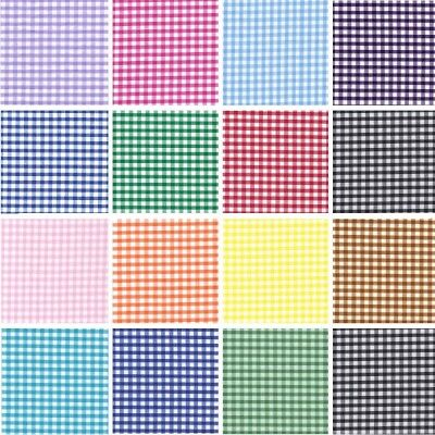 £4.40 • Buy Polycotton Fabric 1/8  Gingham Check Material Dress Craft Uniform Checked