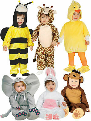 Baby Toddler Animal Fancy Dress Costume Bee Insect Monkey Chick Bunny Butterfly • 10.95£
