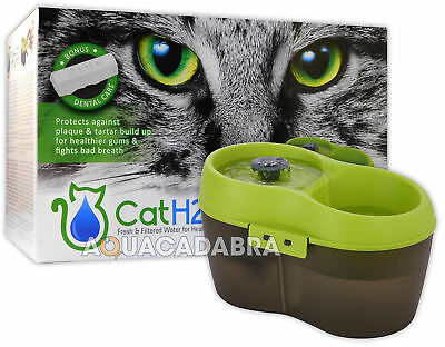 £19.99 • Buy Cat H2O Fountain Fresh Filtered Water Healthy Cats Drinking 2L Dental Care H20