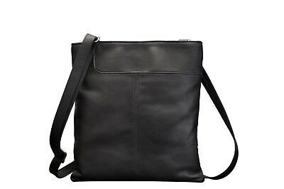 Real Leather Shoulder Soft Ladies Gents Cross Body Bag Black Brown Red Women New • 14.99£