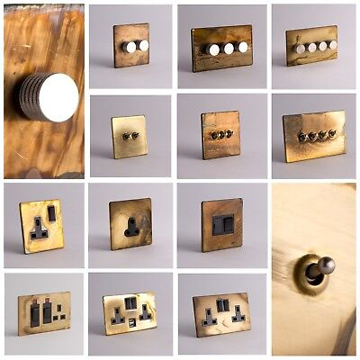 £18.99 • Buy DESIGNER SOCKETS AND SWITCHES - Smoked Gold And Silver