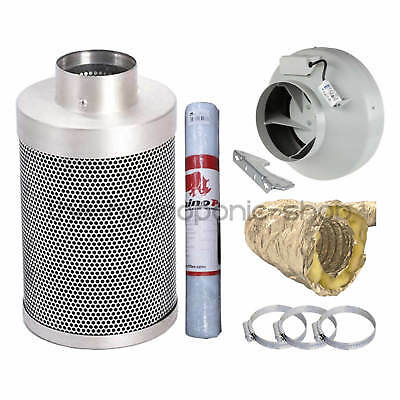 Rhino Hobby Carbon Filter Kit RVK Fan With Sono Ducting Hydroponics • 89.95£