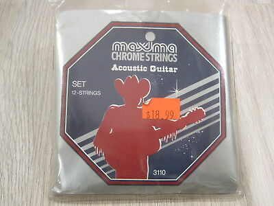 $ CDN31.50 • Buy Maxima 3110 Chrome 12-String Set Acoustic Guitar Strings