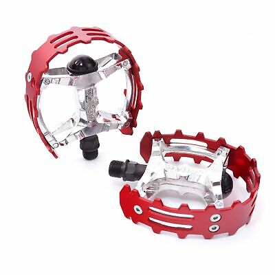 $23.50 • Buy Wellgo Old School BMX XC-II  Bear Trap Pedals 9/16  FOR 3 PIECE CRANKS Red Cage
