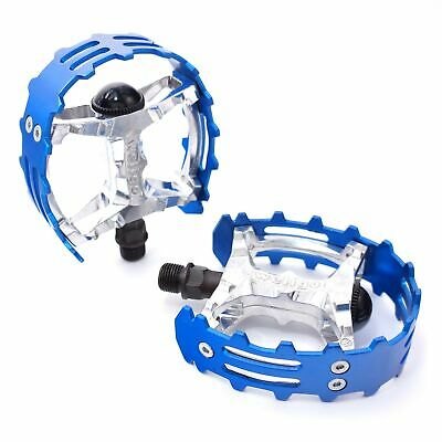 $23.50 • Buy Old School BMX XC-II Wellgo Bear Trap Pedals 9/16  FOR 3 PIECE CRANKS Blue Cage