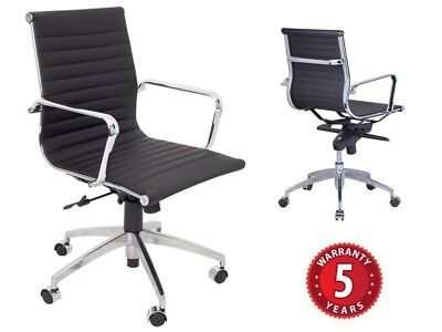 AU349.99 • Buy Rapidline PU605M Executive Chair- Medium Back Chrome Armrests & Base