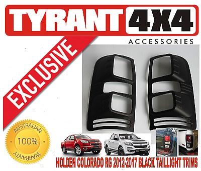AU75 • Buy #0192016 Holden Colorado RG 2018 Black Taillight Cover Trims Tail Lamp Z71 LSX