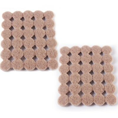 60Pc SMALL ROUND FURNITURE PADS 10mm Felt Self Adhesive Leg Anti Scratch Floor • 3.03£