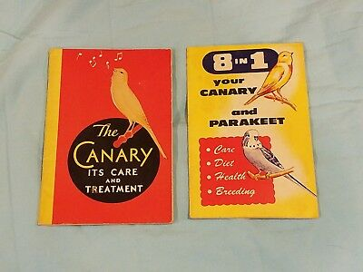 £12.74 • Buy Vintage Canary Books Booklets From 1932 And 1957 Birds Pets