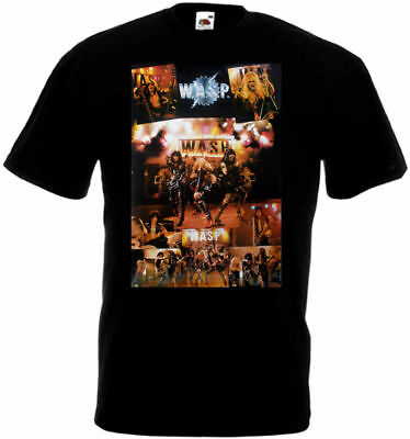 £13.05 • Buy WASP Rare Vintage Poster T-shirt Black All Sizes S...5XL