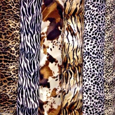 Animal Print Velboa Faux Fur Velour Fabric Craft Material 60  Wide M220 • 8.99£
