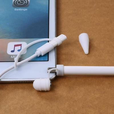 For Apple Pencil Cap Holder Pen Keeper Tip Cover Cable Adapter Tether White • 3.70£