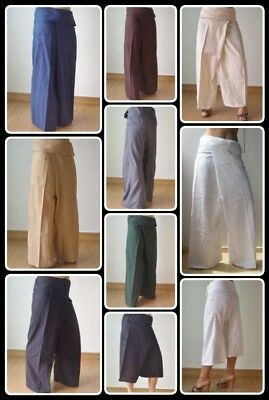 AU20.98 • Buy Thai Fisherman Yoga Meditation Maternity Pants Long/Short 8 Colours 100% COTTON