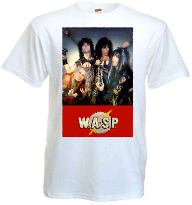 £13.05 • Buy WASP T-shirt White Poster All Sizes S...5XL
