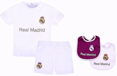 478e48538 Real Madrid Fc Babies T Shirt Shorts Set Kit Baby Short Sleeve Pram Suit  Rmcf •