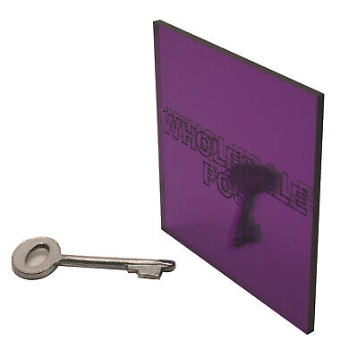 Acrylic Perspex Purple 1020 Mirror Sheet Plastic Panel Material A5 A4 A3 3mm • 15.19£