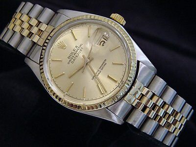 $ CDN6388.73 • Buy Rolex Datejust Mens 2Tone Gold & Stainless Steel Watch Champagne Dial 16013
